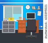modern office interior. vector... | Shutterstock .eps vector #633395021
