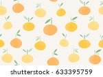 seamless fruit pattern | Shutterstock .eps vector #633395759