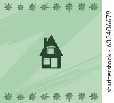 house sign. flat icon.   Shutterstock .eps vector #633406679