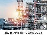 industrial zone the equipment... | Shutterstock . vector #633410285