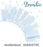 outline brasilia skyline with...   Shutterstock .eps vector #633422735