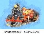 Retro Stream Locomotive Train...