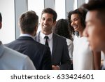 group of businesspeople having... | Shutterstock . vector #633424601