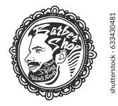 vintage barber shop logo  ... | Shutterstock .eps vector #633430481
