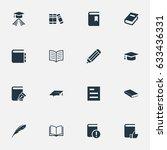 vector illustration set of... | Shutterstock .eps vector #633436331
