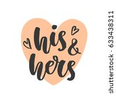 his and hers. wedding day... | Shutterstock .eps vector #633438311