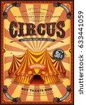 Vintage Yellow Circus Poster...