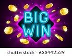 big win banner for gambling... | Shutterstock .eps vector #633442529