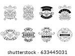 summer   handmade template.... | Shutterstock .eps vector #633445031