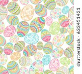 seamless background happy...   Shutterstock .eps vector #633451421