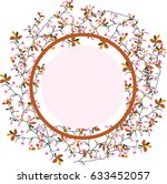 a wreath of cherry   Shutterstock .eps vector #633452057