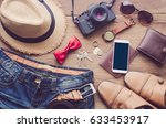 accessories and apparel for... | Shutterstock . vector #633453917