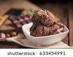 chocolate ice cream   Shutterstock . vector #633454991