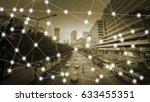 modern cityscape and wireless... | Shutterstock . vector #633455351