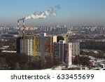 city view  industrial pipes.   Shutterstock . vector #633455699