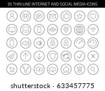 35 thin line internet and... | Shutterstock .eps vector #633457775