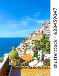 positano  amalfi coast ...   Shutterstock . vector #633459047