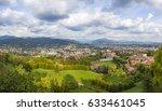panorama of bergamo city ... | Shutterstock . vector #633461045