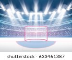 ice hockey stadium with... | Shutterstock .eps vector #633461387