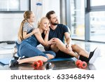 portrait of happy family... | Shutterstock . vector #633468494