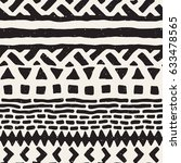 black and white tribal vector... | Shutterstock .eps vector #633478565