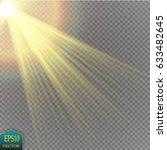 vector transparent sunlight... | Shutterstock .eps vector #633482645