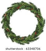 realistic vector wreath with...