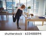 attentive executive using... | Shutterstock . vector #633488894