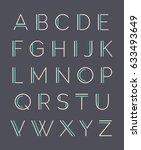 modern minimal uppercase... | Shutterstock .eps vector #633493649