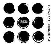 circle abstract black textured... | Shutterstock .eps vector #633496145