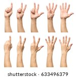 male hands counting from one to ... | Shutterstock . vector #633496379
