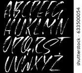 hand drawn dry brush font.... | Shutterstock .eps vector #633500054