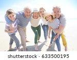 portrait of happy... | Shutterstock . vector #633500195