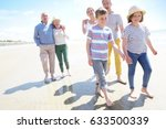 happy intergenerational family... | Shutterstock . vector #633500339