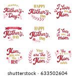 mothers day hand lettering...   Shutterstock .eps vector #633502604