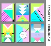 set of artistic colorful... | Shutterstock .eps vector #633504119