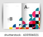 abstract circle design business ... | Shutterstock .eps vector #633506021