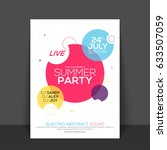 summer party flyer  template or ... | Shutterstock .eps vector #633507059
