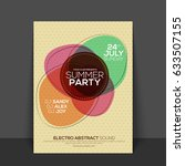 summer party flyer  template ... | Shutterstock .eps vector #633507155