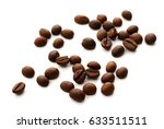 roasted coffee beans isolated... | Shutterstock . vector #633511511