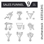 sales funnel   vector set of... | Shutterstock .eps vector #633516341