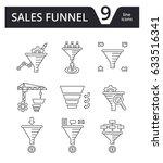 sales funnel   vector set of... | Shutterstock .eps vector #633516341