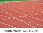 running track on the stadium ... | Shutterstock . vector #633519227
