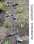 Small photo of Bodelva, Cornwall, UK - April 4 2017: Irrigation system at the Eden Project in Cornwall England