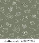 vector illustration. pen drawn... | Shutterstock .eps vector #633525965