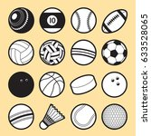 Set Of 16 Isolated Sport Ball...