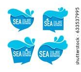 sea the best summer destination ... | Shutterstock .eps vector #633537995