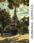 eiffel tower in paris | Shutterstock . vector #633541121