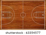 basketball court floor plan on... | Shutterstock . vector #63354577