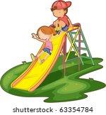 illustration of kids on a white ... | Shutterstock .eps vector #63354784